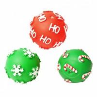 Jouet pour chien - Trio de balles de Noël en vinyle pour chien Europet