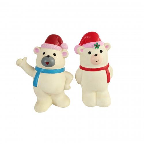 Jouet pour chien - Ours de Noël en latex pour chiens