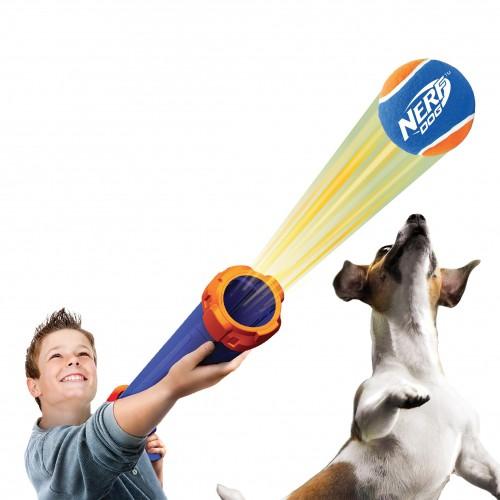 Lanceur de balle blaster lance balle pour chien nerf wanimo - Lance balle automatique chien ...