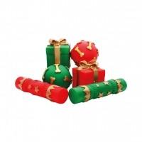 Jouet à mâcher pour chien - Lot de 5 jouets festifs en vinyle Happy Pet