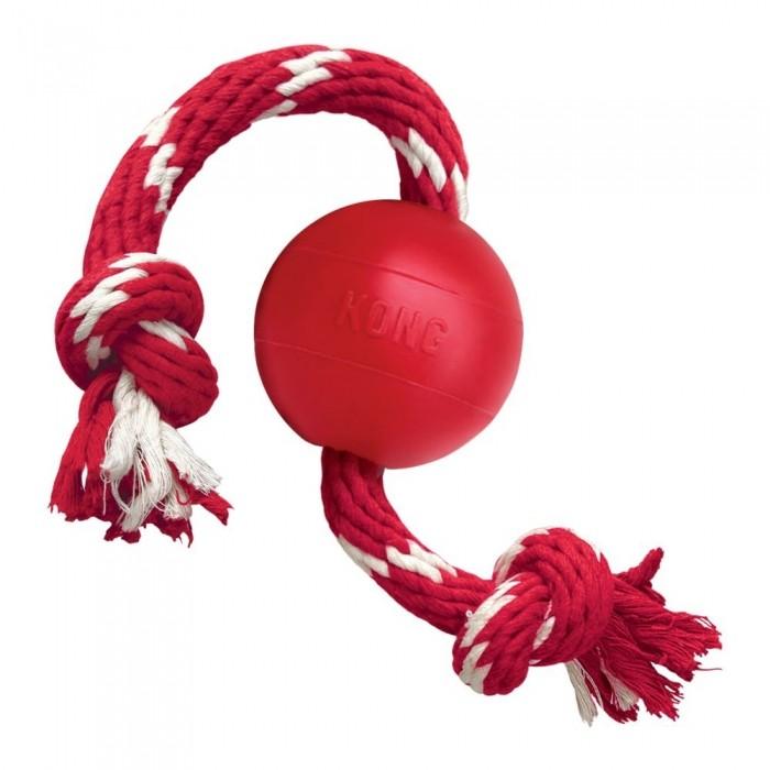 Jouet pour chien - Balle avec corde  pour chiens