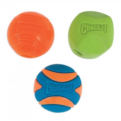 Jouet pour chien - Lot de 3 balles colorées à lancer pour chiens