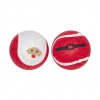 Jeu pour chien - Lot de 2 Balles de tennis Père Noël Pet Brands
