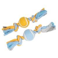 Corde pour chien - Cordes à noeuds avec balle de tennis Anka