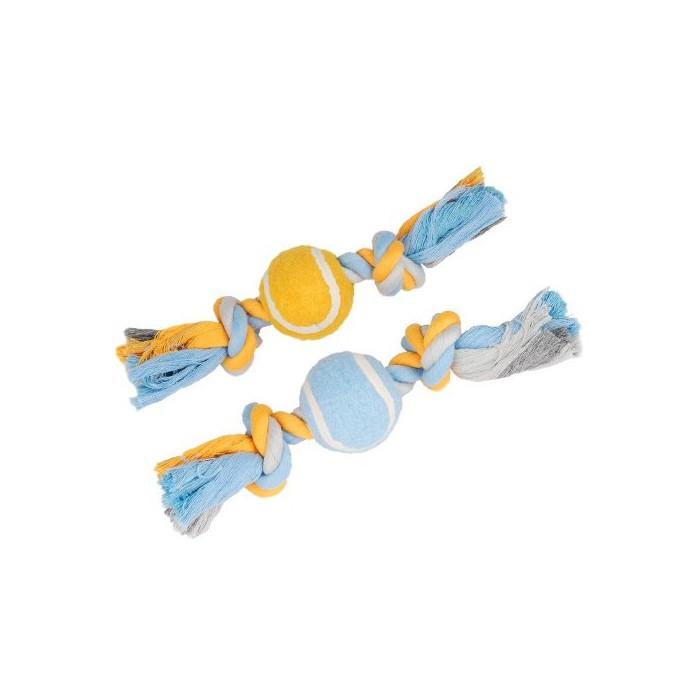 Sélection Printemps - Cordes à noeuds avec balle de tennis pour chiens
