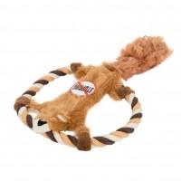Jouet à mâcher pour chien - Peluche avec corde Skinneeez