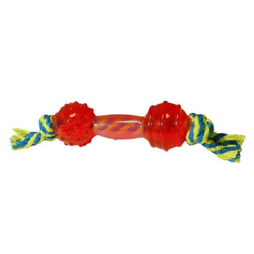 Jouet pour chien - Jouet Haltère avec corde Burly pour chiens