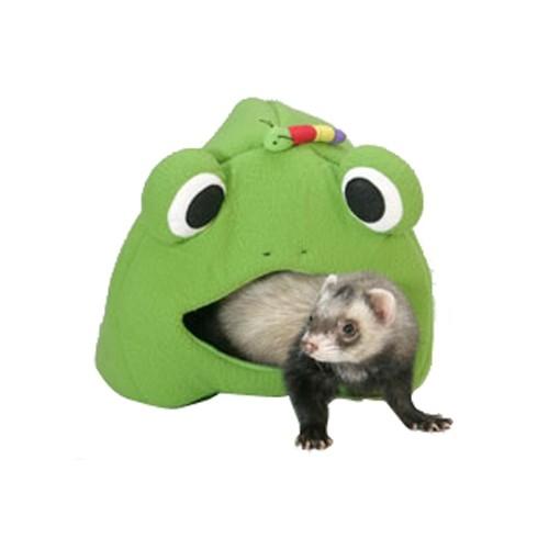 Jouet pour furet - Tente Frog Lodge Grenouille pour furets