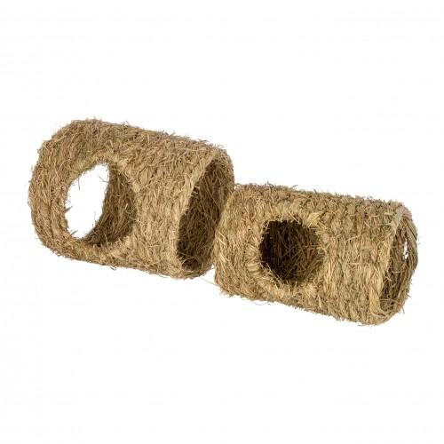 Jouet pour furet - Tunnel en herbes 2 pièces pour furets