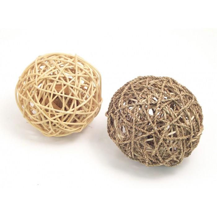 Jouet pour furet - Balle Wobble en rotin pour furets