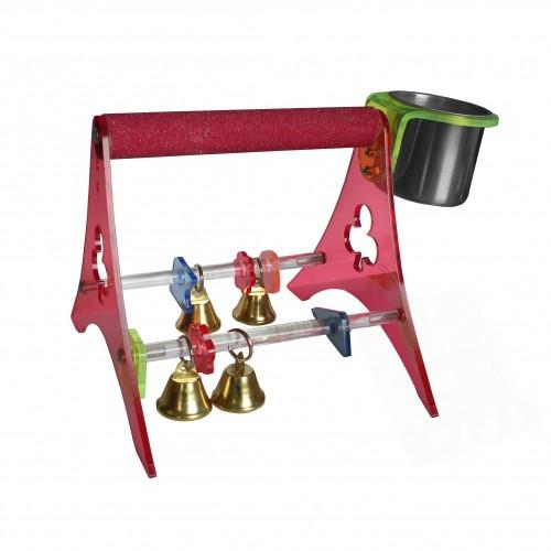 Jouet pour oiseau - Perchoir Portable pour oiseaux