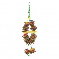 Jouet pour oiseaux - Jouet bois en corde de sisal coloré Trixie