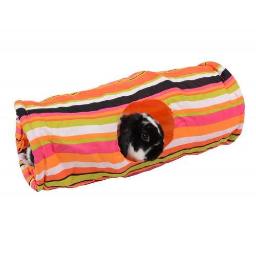 Jouet pour rongeur - Tunnel nylon multicolore pour rongeurs