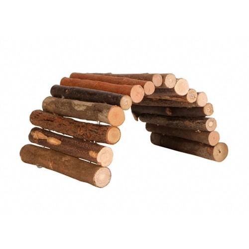 Jouet pour rongeur - Ponts en bois naturel pour rongeurs