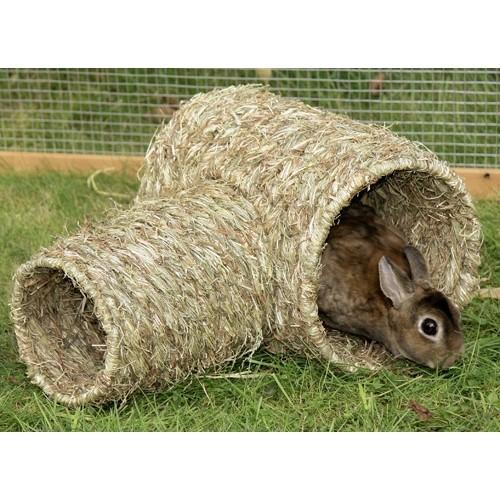 Jouet pour rongeur - Tunnel végétal pour rongeurs