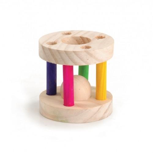 Jouet pour rongeur - Cylindre en bois pour rongeurs