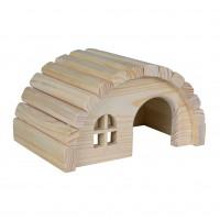 Dôme et maison pour rongeur - Maison Hobbit en bois Trixie