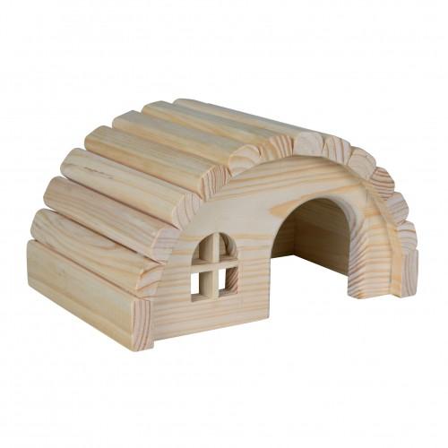 Jouet pour rongeur - Maison Hobbit en bois pour rongeurs