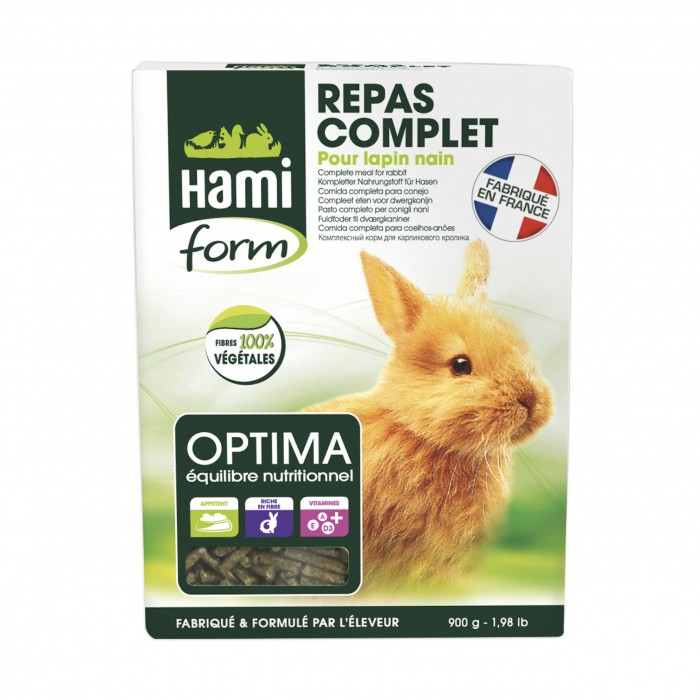 Aliment pour rongeur - Optima lapin nain pour rongeurs