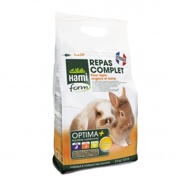 Aliment pour rongeur - Optima + lapin angora et bélier pour rongeurs