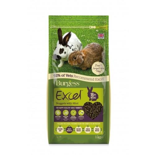 Aliment pour rongeur - Granulés Excel Adulte à la menthe pour rongeurs