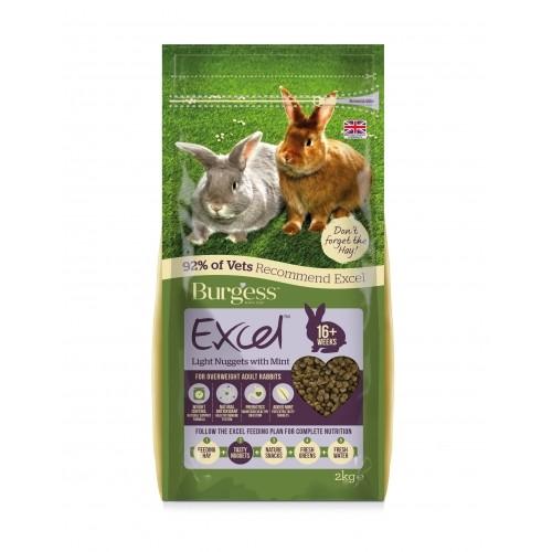 Aliment pour rongeur - Granulés Excel Adulte Light à la menthe pour rongeurs