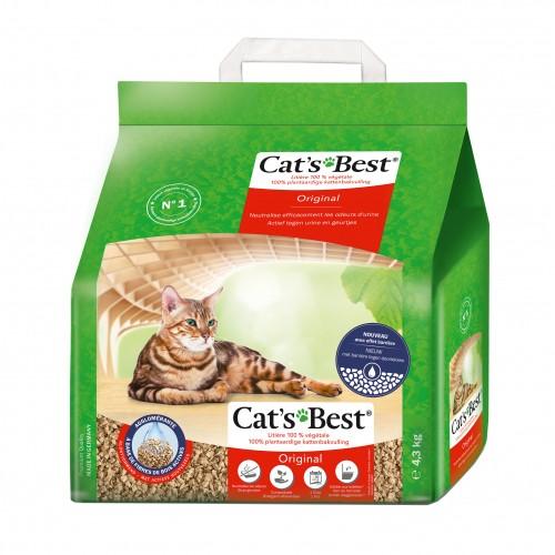 Litière chat, maison de toilette - Litière Cat's Best Original pour chats