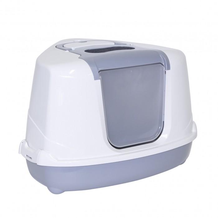 Litière chat, maison de toilette - Maison de toilette d'angle Cozy Corner 2 pour chats