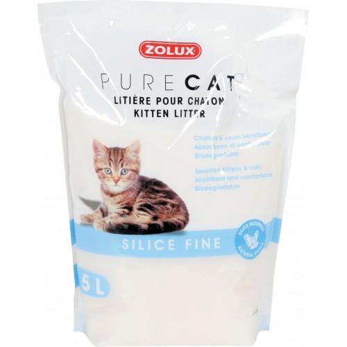 Litière chat, maison de toilette - Litière Pure Cat Silice fine pour chats