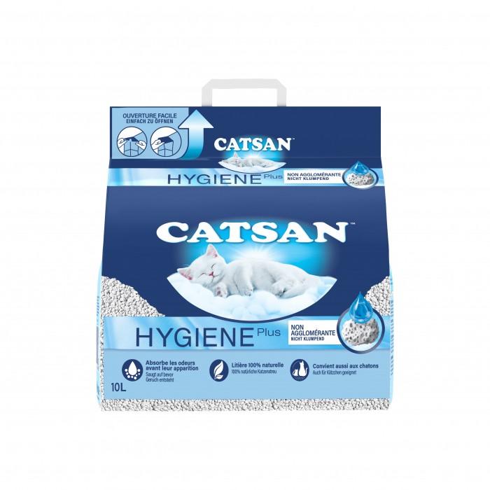 Litière chat, maison de toilette - Litière Catsan® Hygiène Plus pour chats