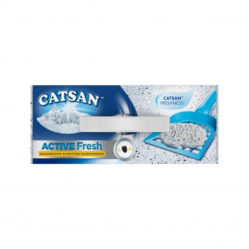 Litière chat, maison de toilette - Litière Catsan® Active Fresh pour chats