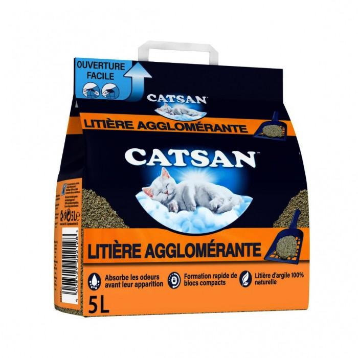 Litière chat, maison de toilette - Litière Catsan® Agglomérante Plus pour chats