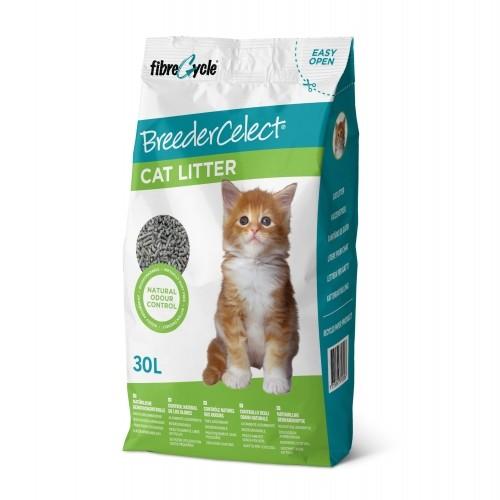 Litière chat, maison de toilette - Litière Breeder Celect  pour chats
