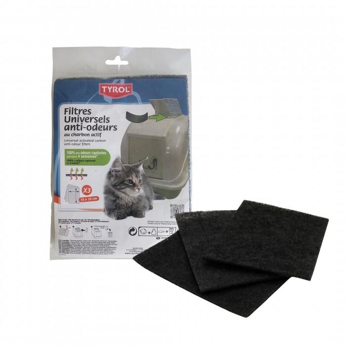 Litière chat, maison de toilette - Filtres à charbon pour maisons de toilette pour chats