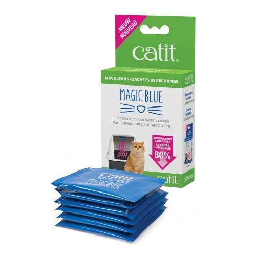 Litière chat, maison de toilette - Magic Blue - Solution anti-odeur pour chats