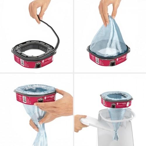 Litière chat, maison de toilette - Recharges de sacs pour poubelles Litter Locker pour chats