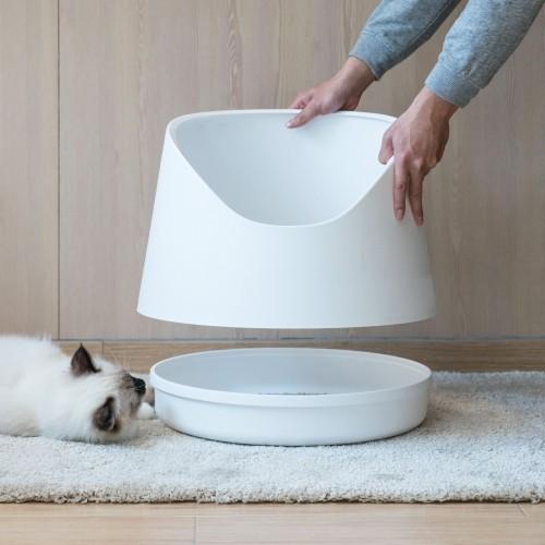 Litière chat, maison de toilette - Bac à litière Snow Mountain pour chats