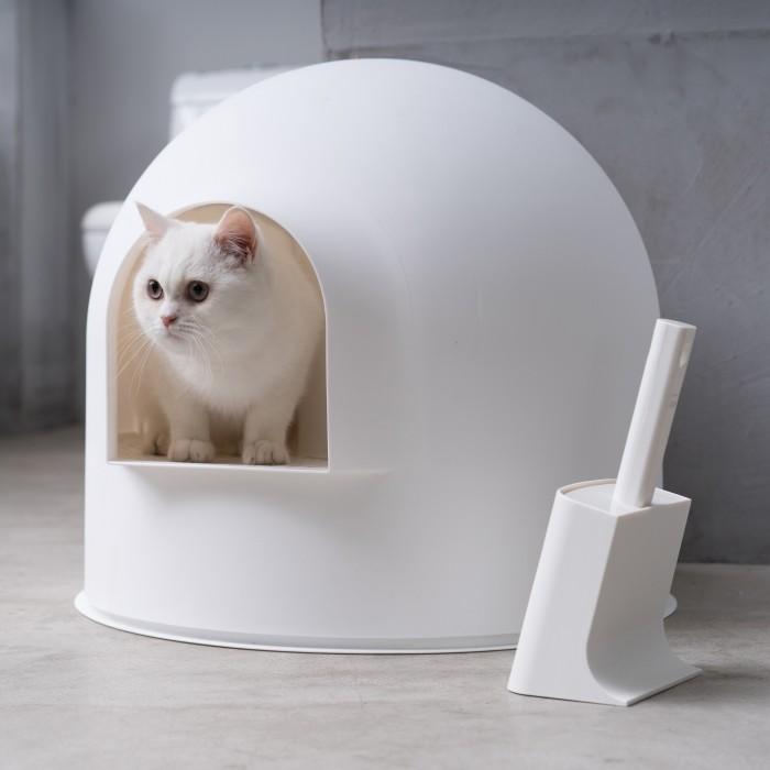 Litière chat, maison de toilette - Pelle à litière avec support pour chats