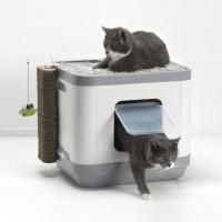 Maison de toilette pour chat - Maison de toilette Cube 2 en 1 Moderna