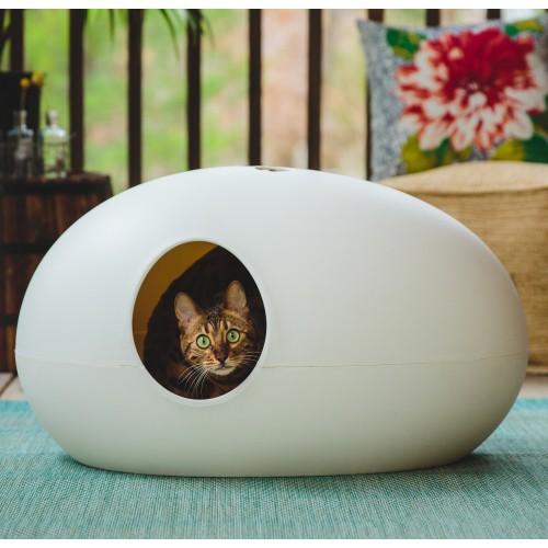 Litière chat, maison de toilette - Maison de toilette Poopoopeedo pour chats