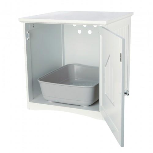 Litière chat, maison de toilette - Meuble de toilette pour chats