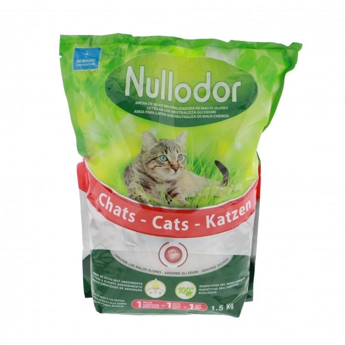 Litière chat, maison de toilette - Litière Nullodor pour chats