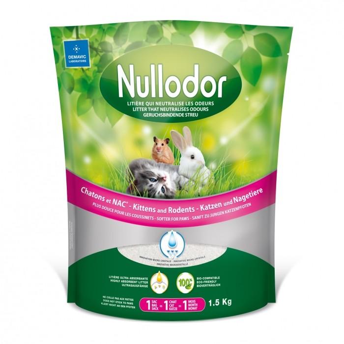 Litière chat, maison de toilette - Litière Nullodor chatons et NAC pour chats