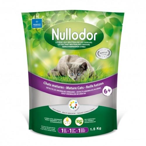 Litière chat, maison de toilette - Litière Nullodor chats matures 6+ pour chats