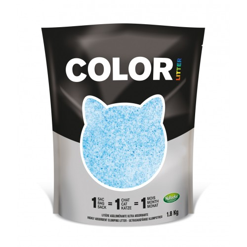 Litière chat, maison de toilette - Litière COLOR pour chats