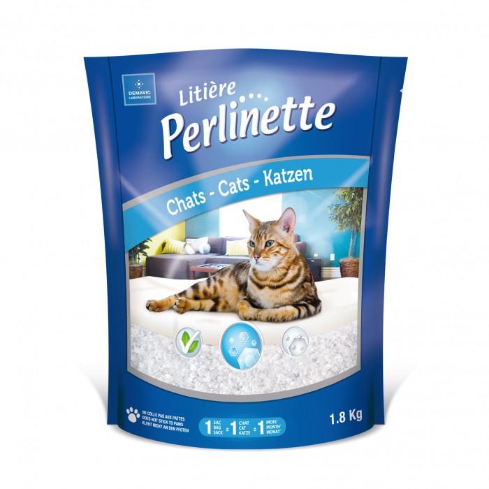 Litière chat, maison de toilette - Litière Perlinette pour chats
