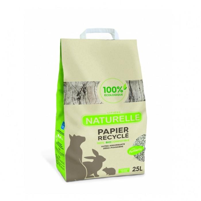 Litière chat, maison de toilette - Litière Perlinette - Papier recyclé pour chats