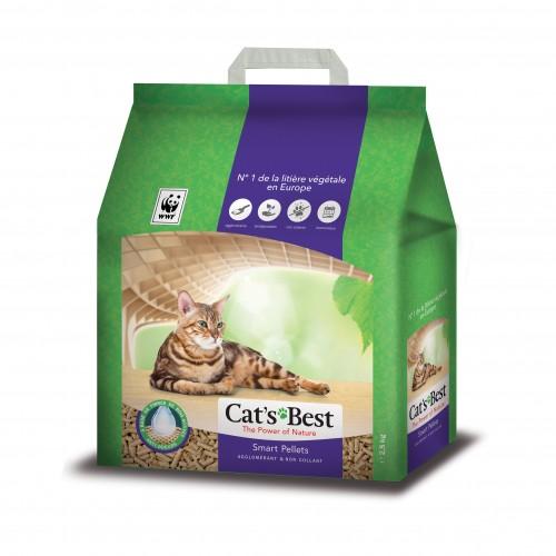 Litière chat, maison de toilette - Litière Cat's Best Smart Pellets pour chats