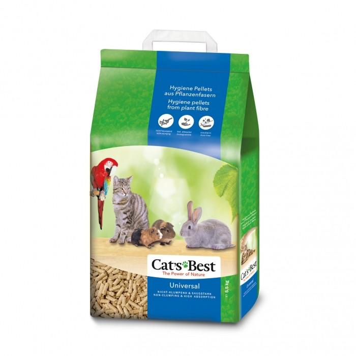 Litière chat, maison de toilette - Litière Cat's Best Universal pour chats
