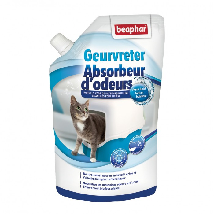Litière & compagnie - Absorbeur d'odeurs en poudre pour chats